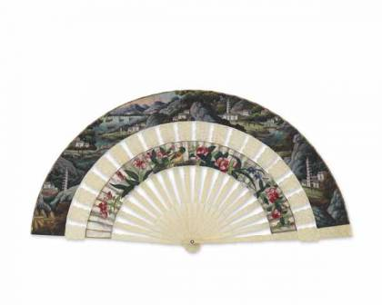 Folding Fan - Chinese landscape